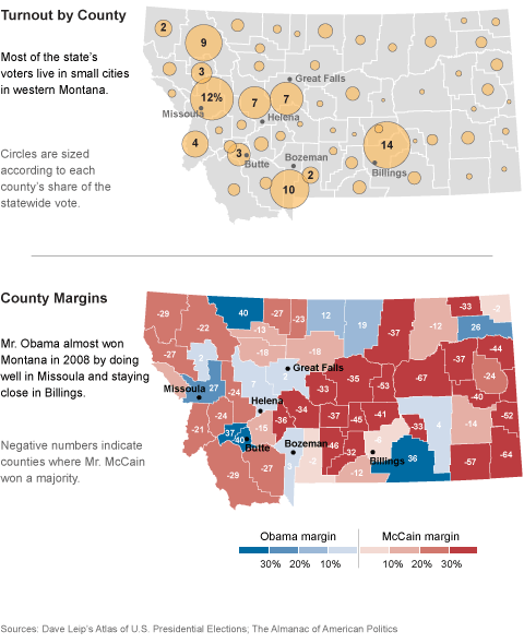 Montana State Map With Counties.Presidential Geography Montana Fivethirtyeight