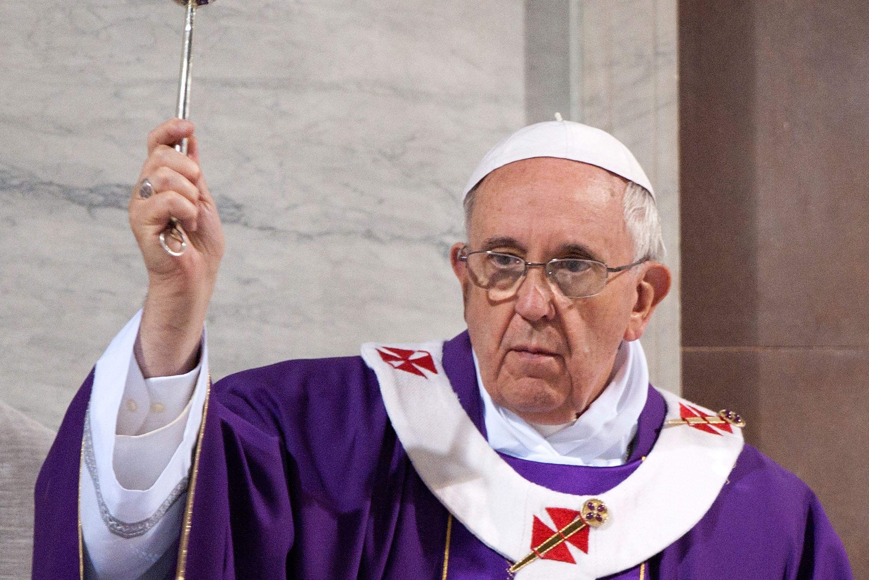 Pope Francis Celebarates Ash Wednesday At Santa Sabina Basilica