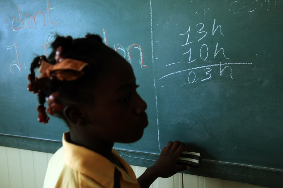 HAITI-CLINTON-EDUCATION
