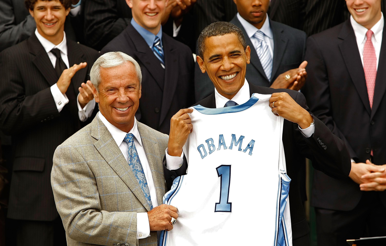 Obama Hosts University Of North Carolina Basketball Team At White House