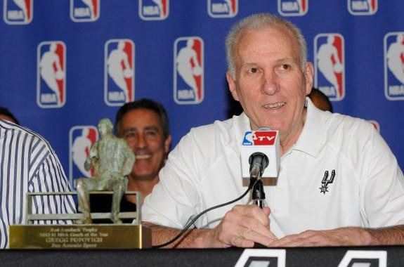 Coach Gregg Popovich San Antonio Spurs