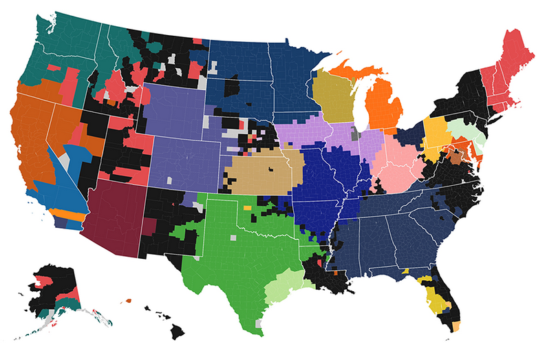 Facebook Fandom Map: Major League Baseball