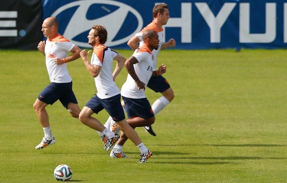 Arjen Robben, Daley Blind, Nigel de Jong, Stefan de Vrij