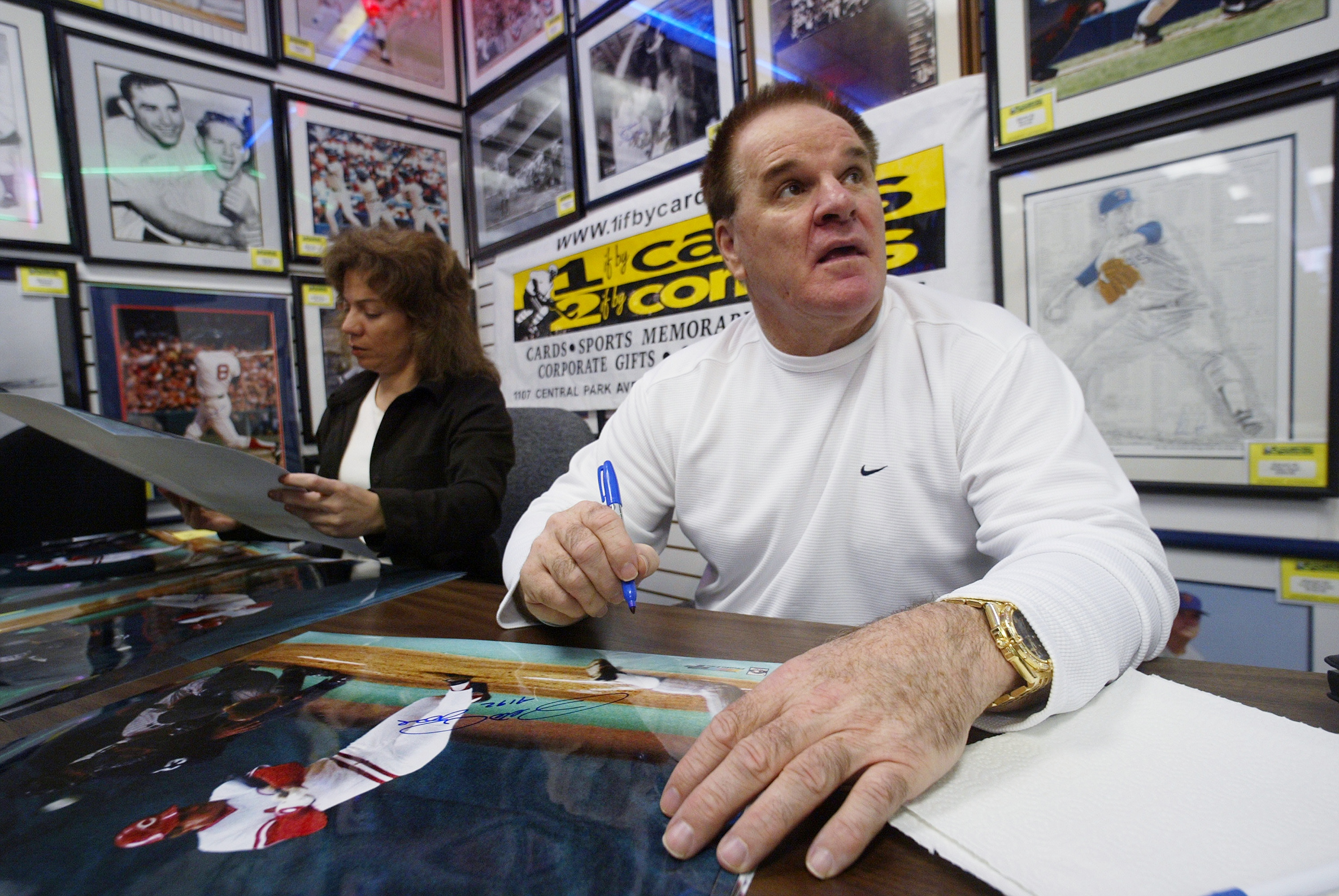 Pete Rose autographs baseball memorabilia at One if by Cards