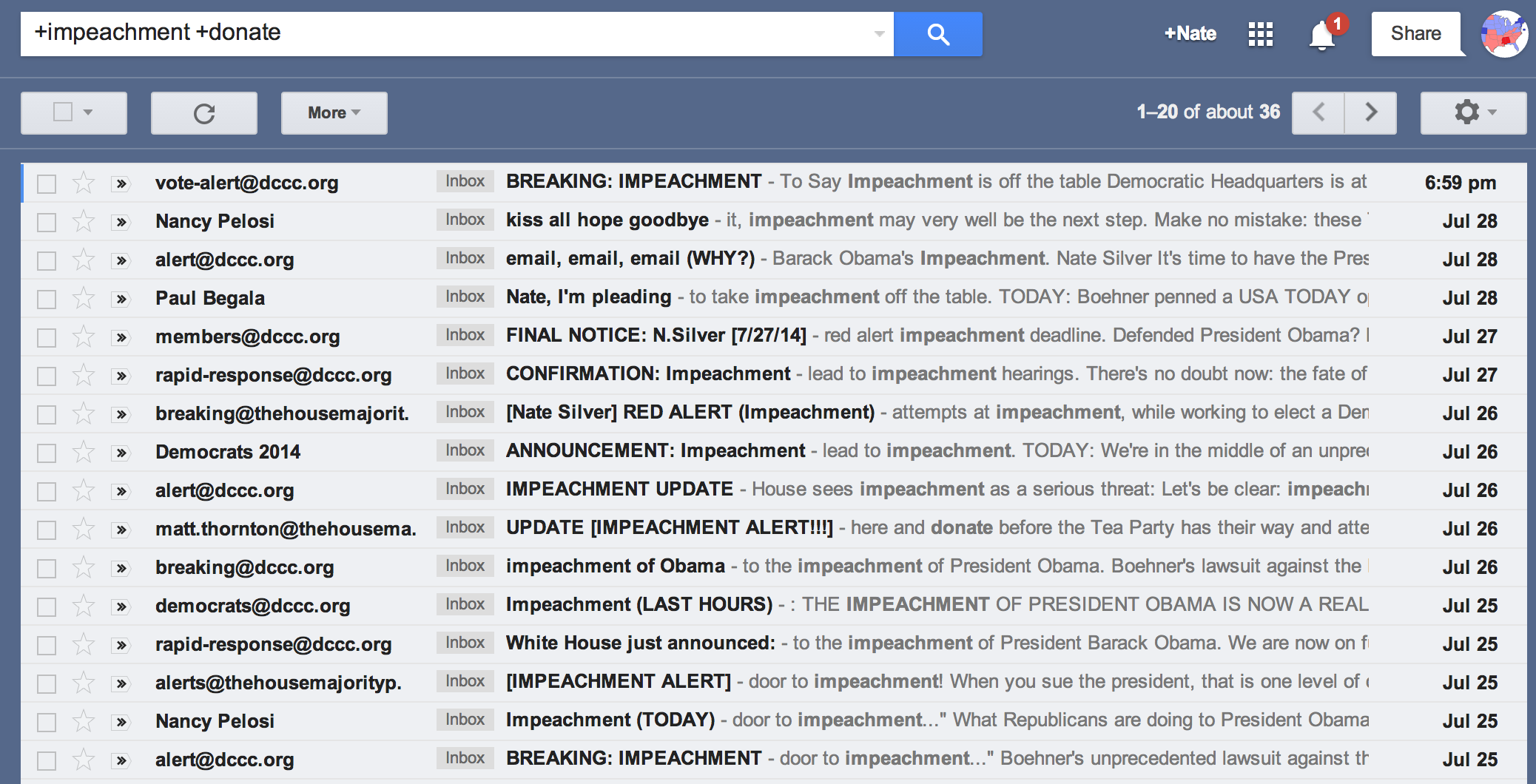Nate Silver's inbox