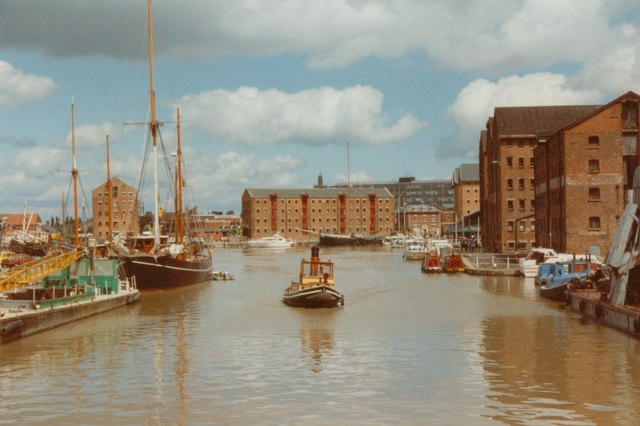 Gloucester docks near to Gloucester, Gloucestershire, Great Britain