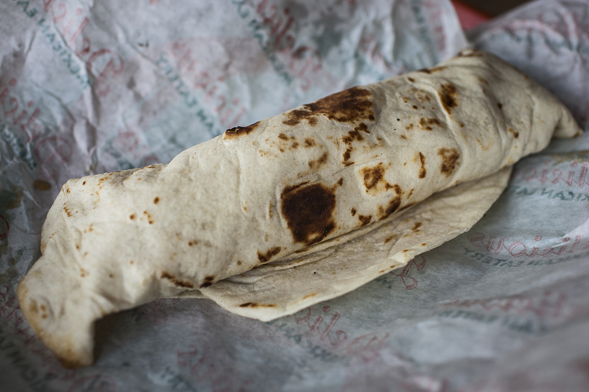 A burrito from Delicious Mexican Eatery.