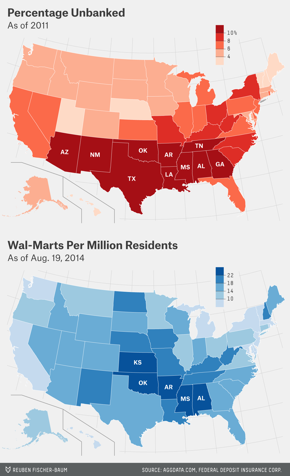 Wal marts getting into banking and it makes a lot of sense flowers fischer baum datalab walmartunbanked map gumiabroncs Images