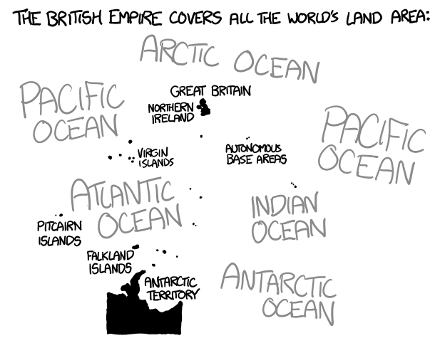 Map, Sunset on the British Empire - WHAT IF
