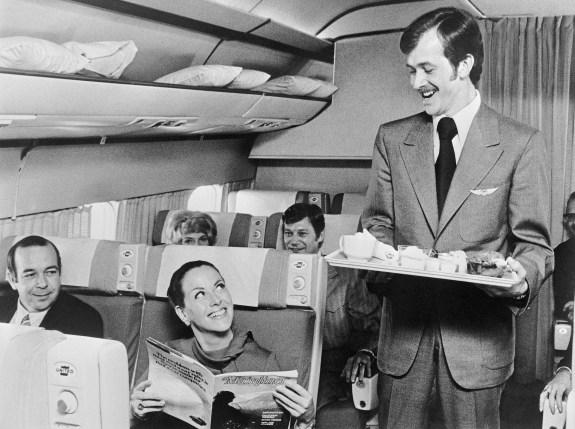 Furloughed Pilot As Flight Attendant 1972