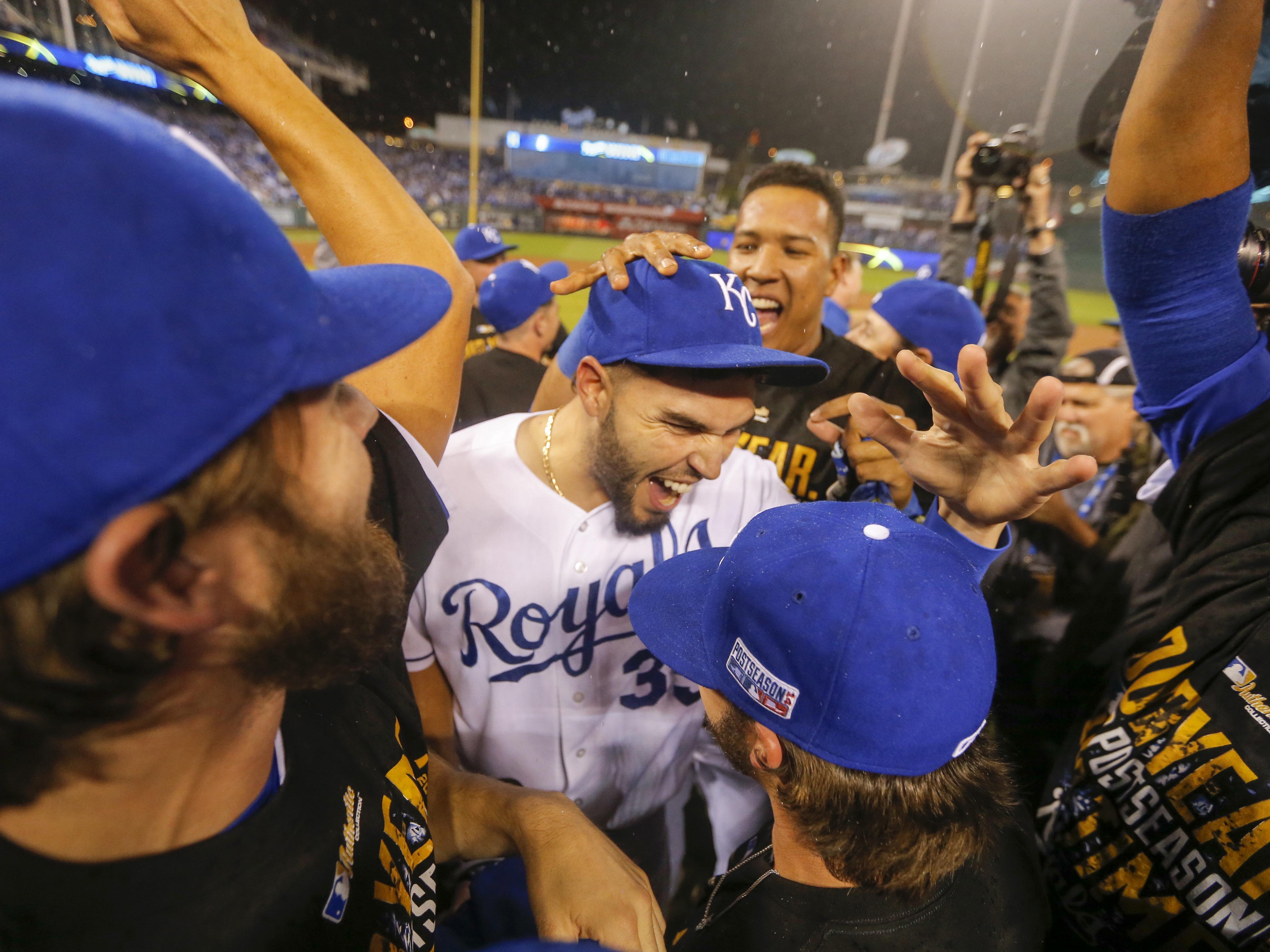 APTOPIX ALDS Angels Royals Baseball