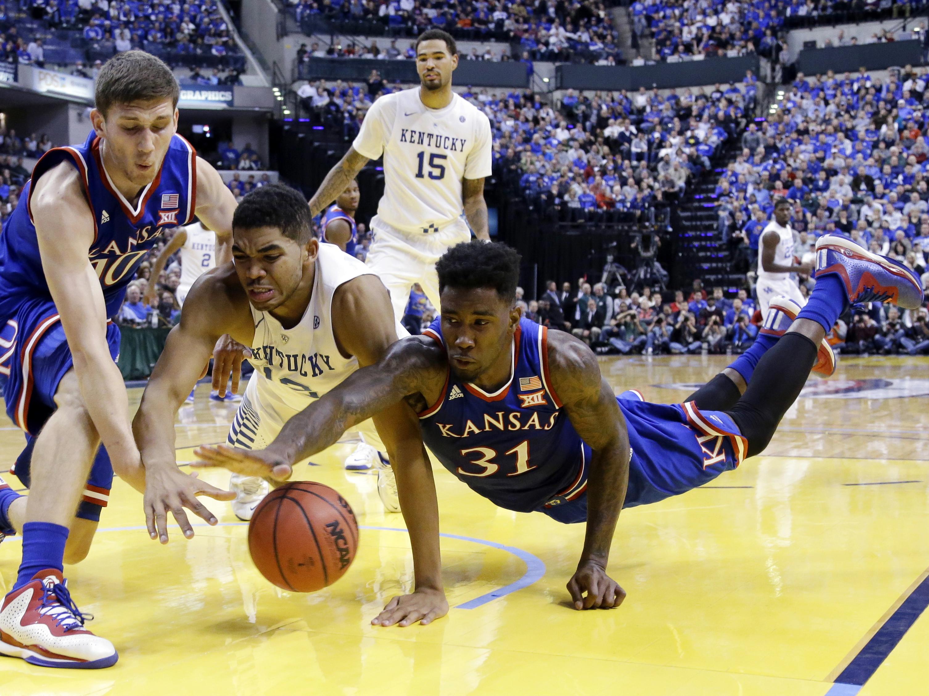 APTOPIX Kentucky Kansas Basketball