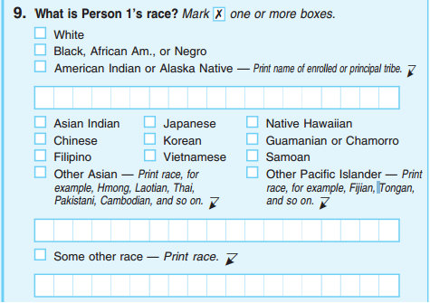 This is how the U.S. Census currently asks about race.