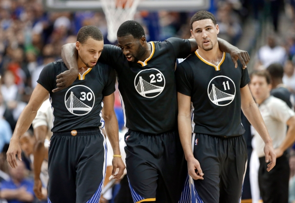 Stephen Curry, Klay Thompson, Draymond Green