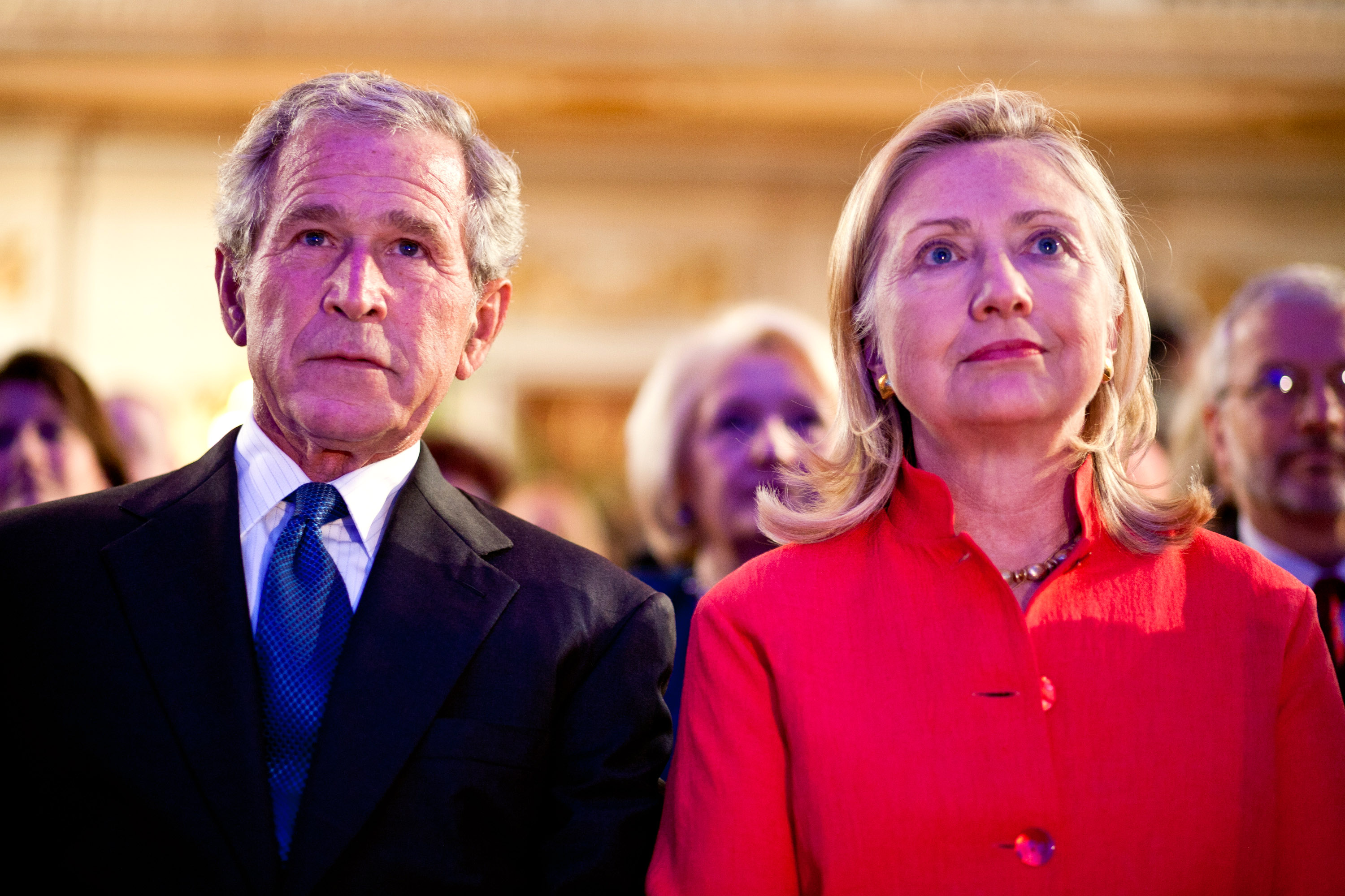 Hillary Clinton And Former President Bush Introduce Cancer Screening Initiative For Females In Developing Nations