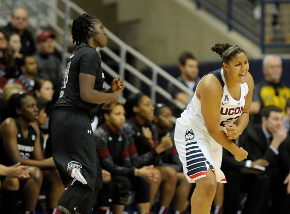 South Carolina at UConn women's basketball