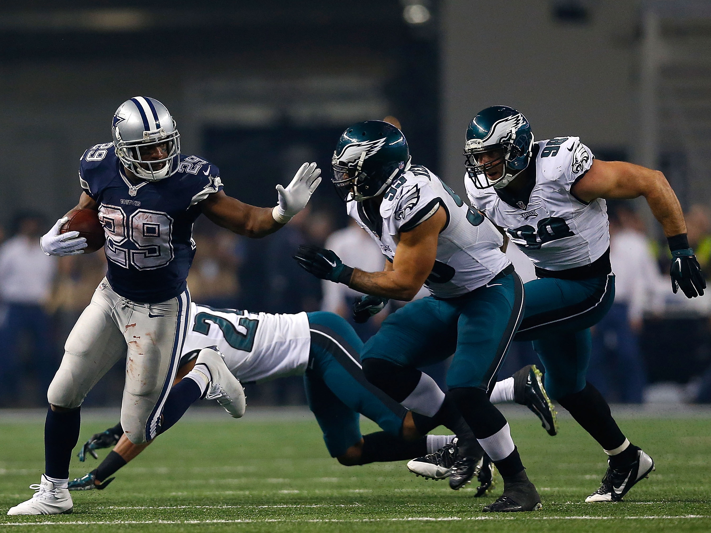 DeMarco Murray, formerly of the Dallas Cowboys. in a game against the Philadelphia Eagles at AT&T Stadium on Nov. 27, 2014 in Arlington, Texas.