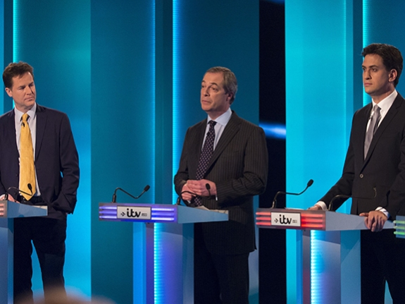 Seven Leaders Of Britain's Political Parties Join Televised Debate