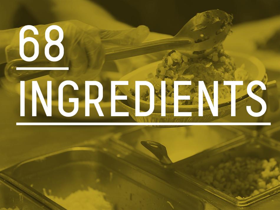 68 ingredients