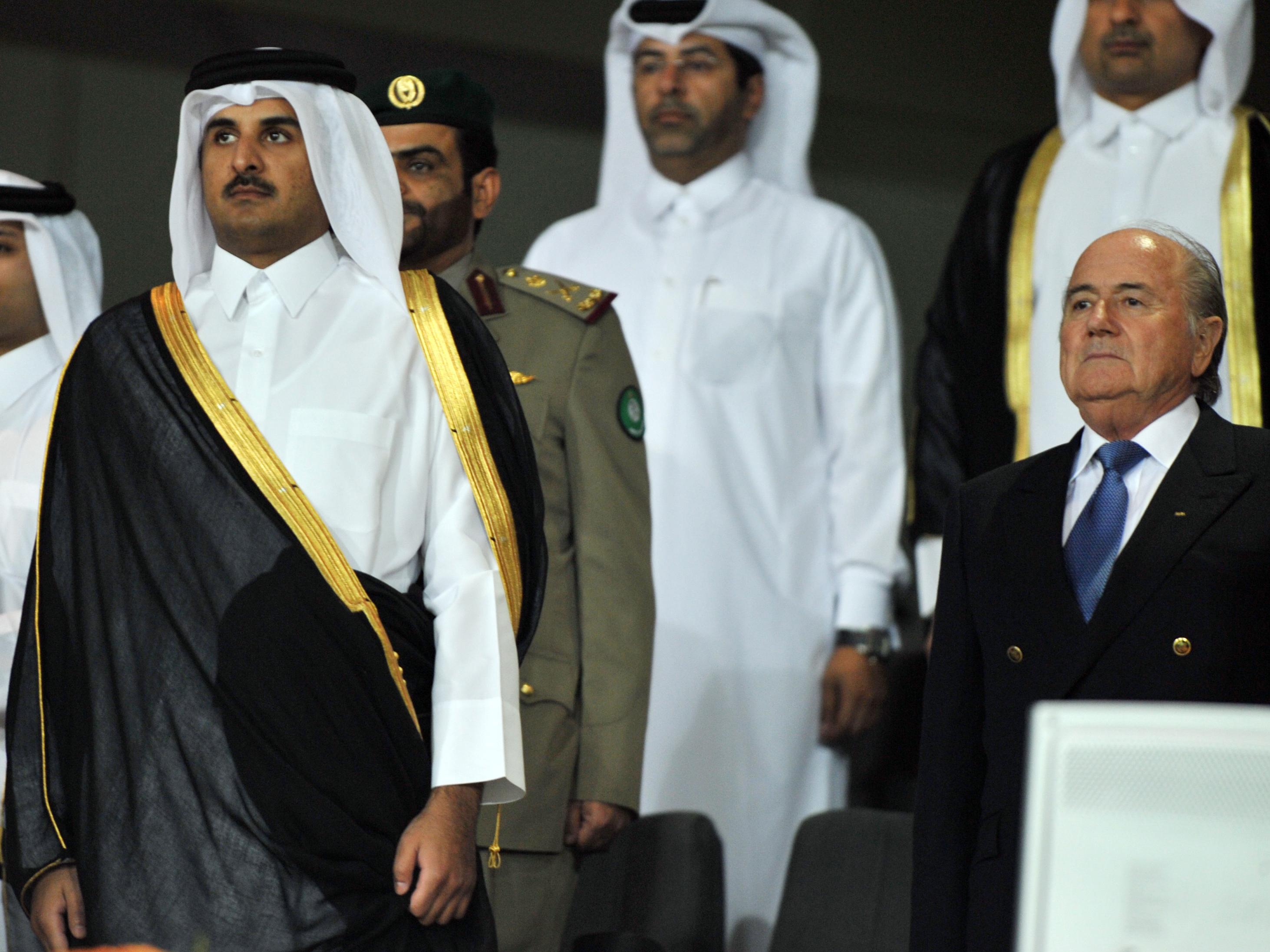 Tamim bin Hamad Al Thani, Sepp Blatter