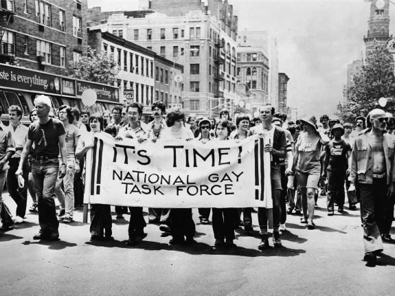 Marchers in NYC Gay Pride Parade