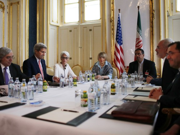 U.S. Secretary of Energy Moniz, U.S. Secretary of State Kerry and U.S. Under Secretary for Political Affairs Sherman meet with Iranian FM Zarif in Vienna, Austria