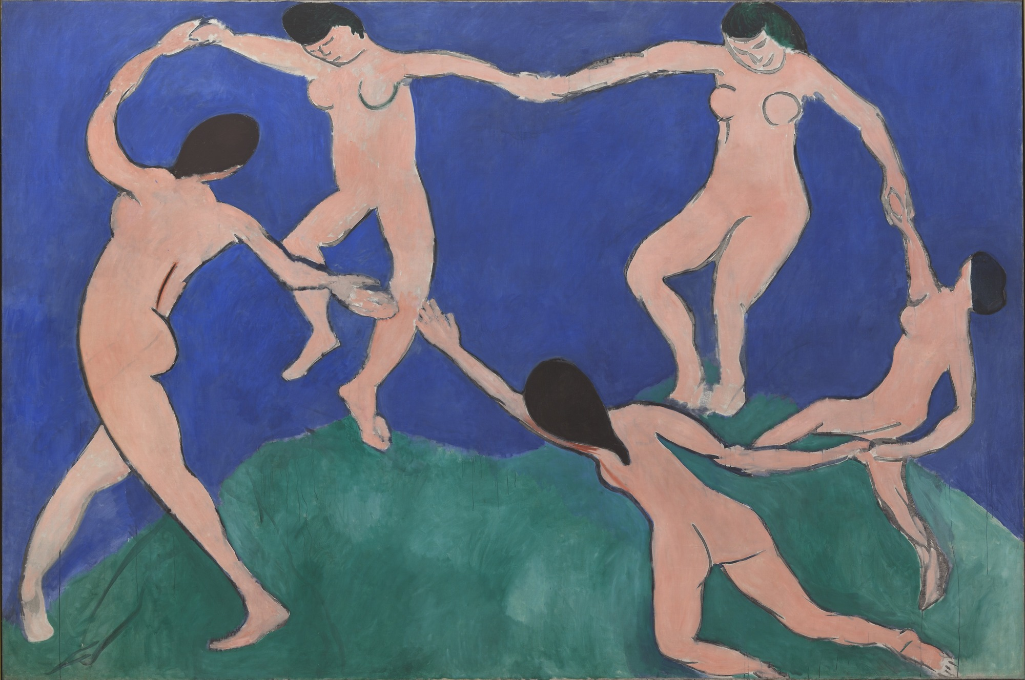 "Henri Matisse, ""Dance (I),"" Paris, Boulevard des Invalides, early 1909."