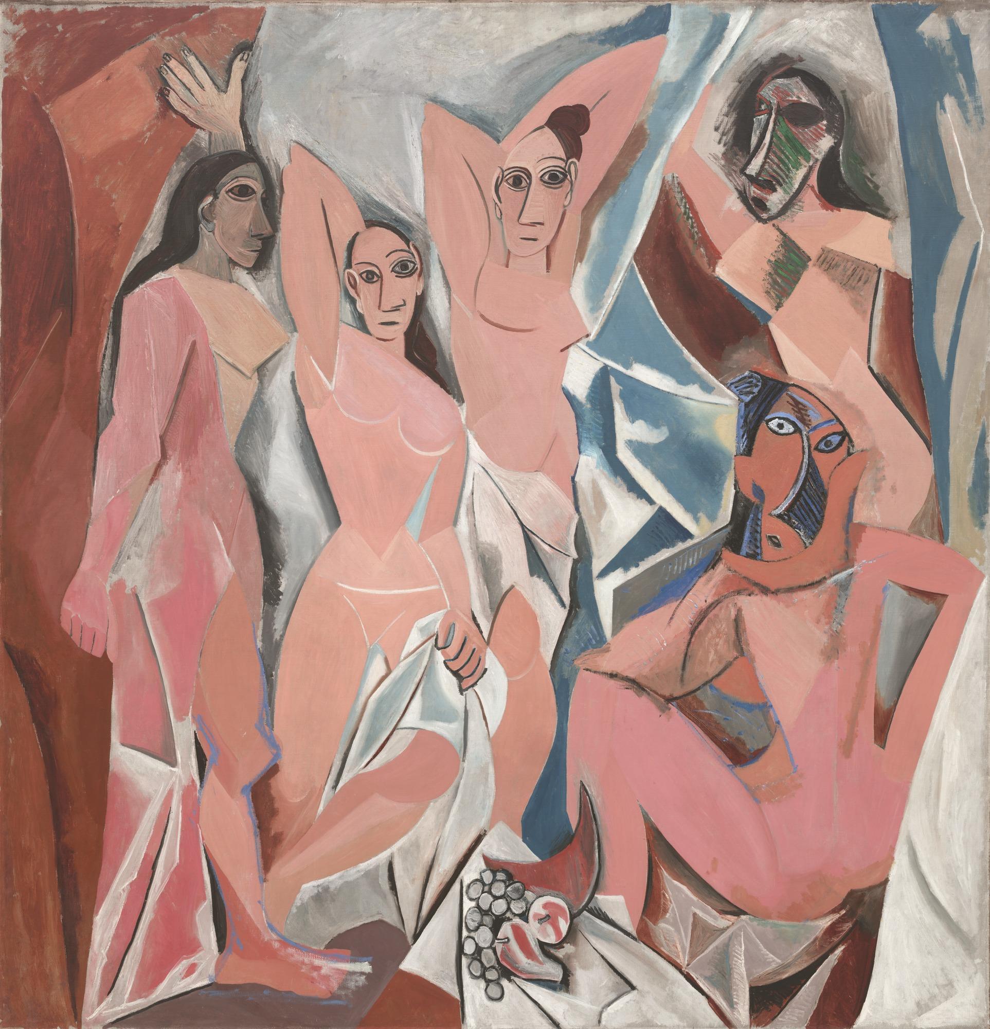 """Pablo Picasso, """"Les Demoiselles d'Avignon,"""" Paris, June-July 1907."""