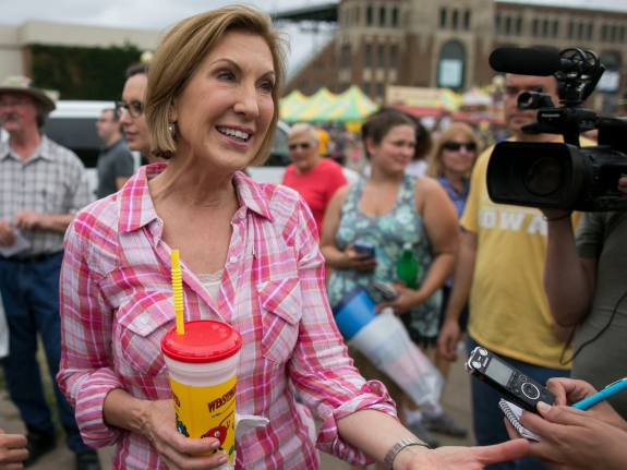 Republican presidential candidate Carly Fiorina at the Iowa State Fair