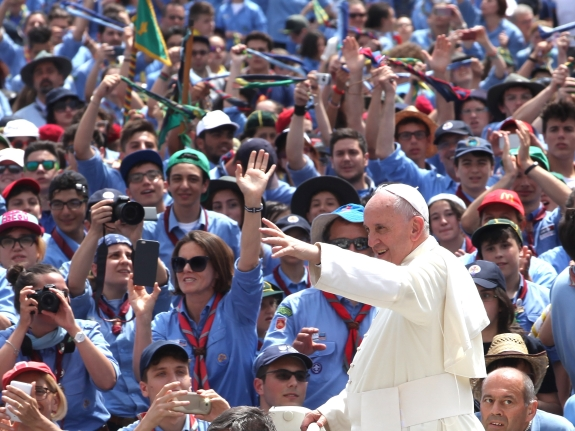 Pope Francis Meets the Scouts at St. Peter's Square