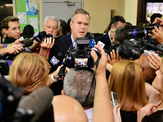 Jeb Bush Visits Miami School