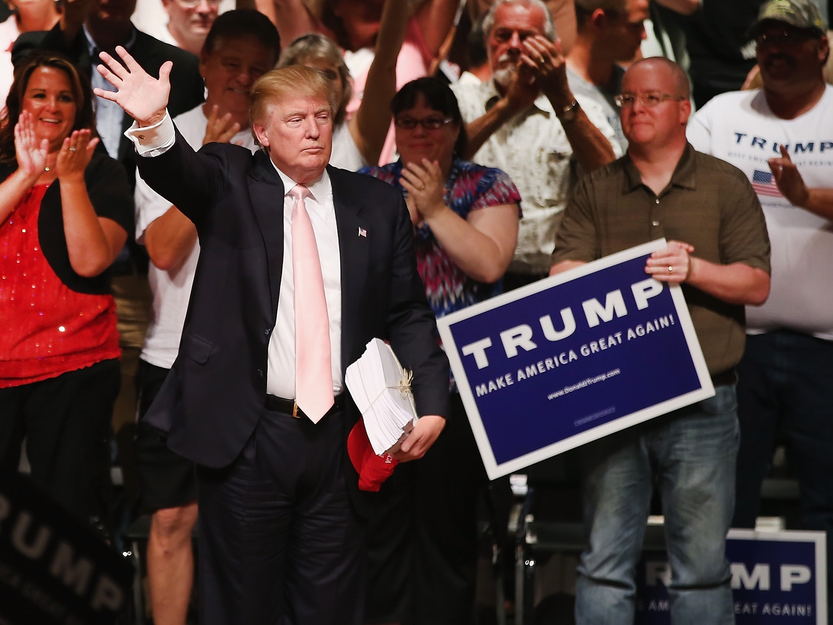 Donald Trump Holds Campaign Rally And Picnic In Iowa