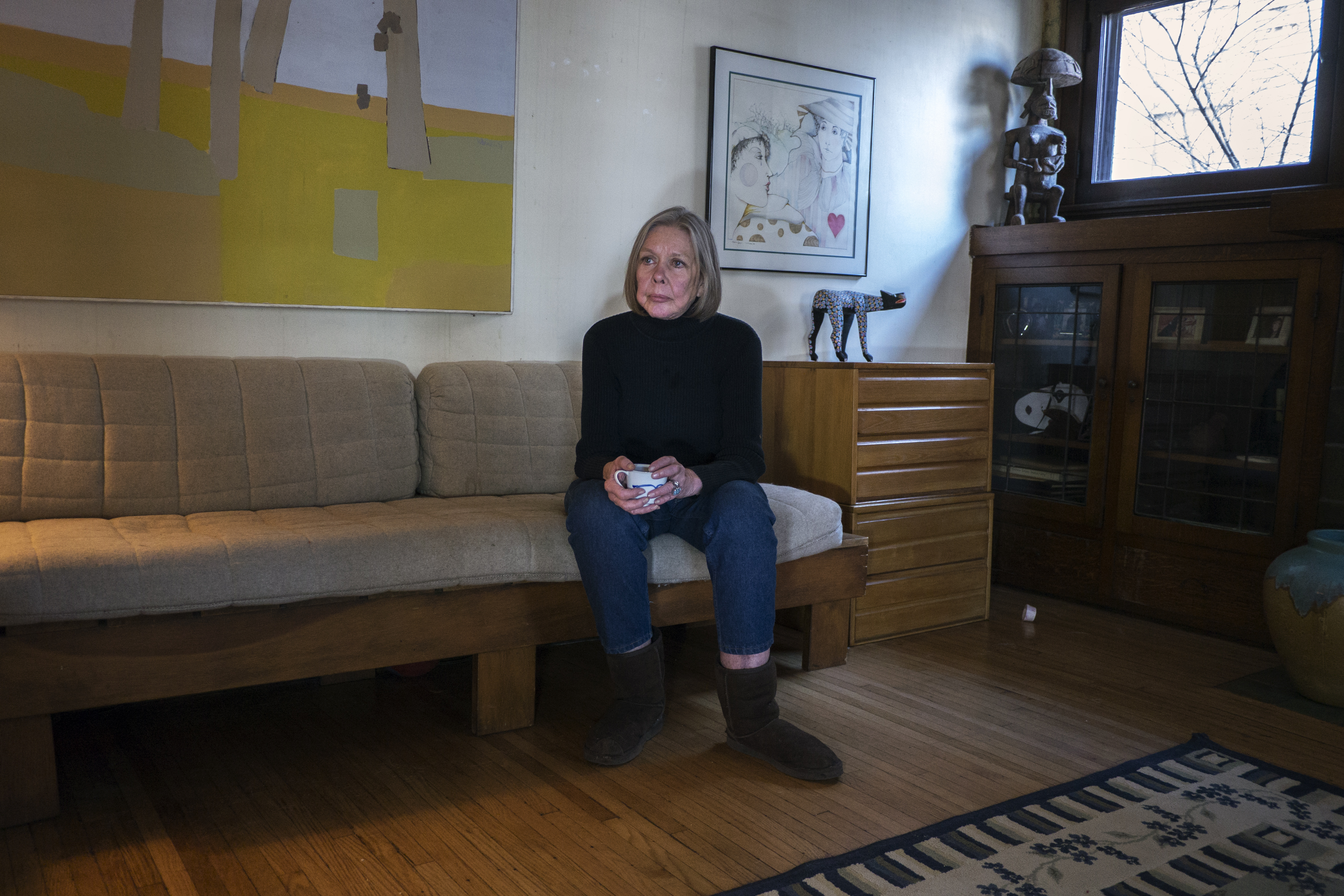 Carol Dunn, the founder of Center for Choice, in the Toledo home of Sue Postal, the clinic's former director, last month.