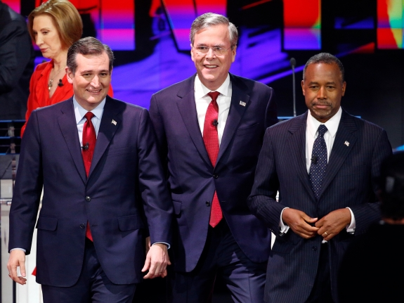 Donald Trump, Carly Fiorina, Ted Cruz, Jeb Bush, Ben Carson