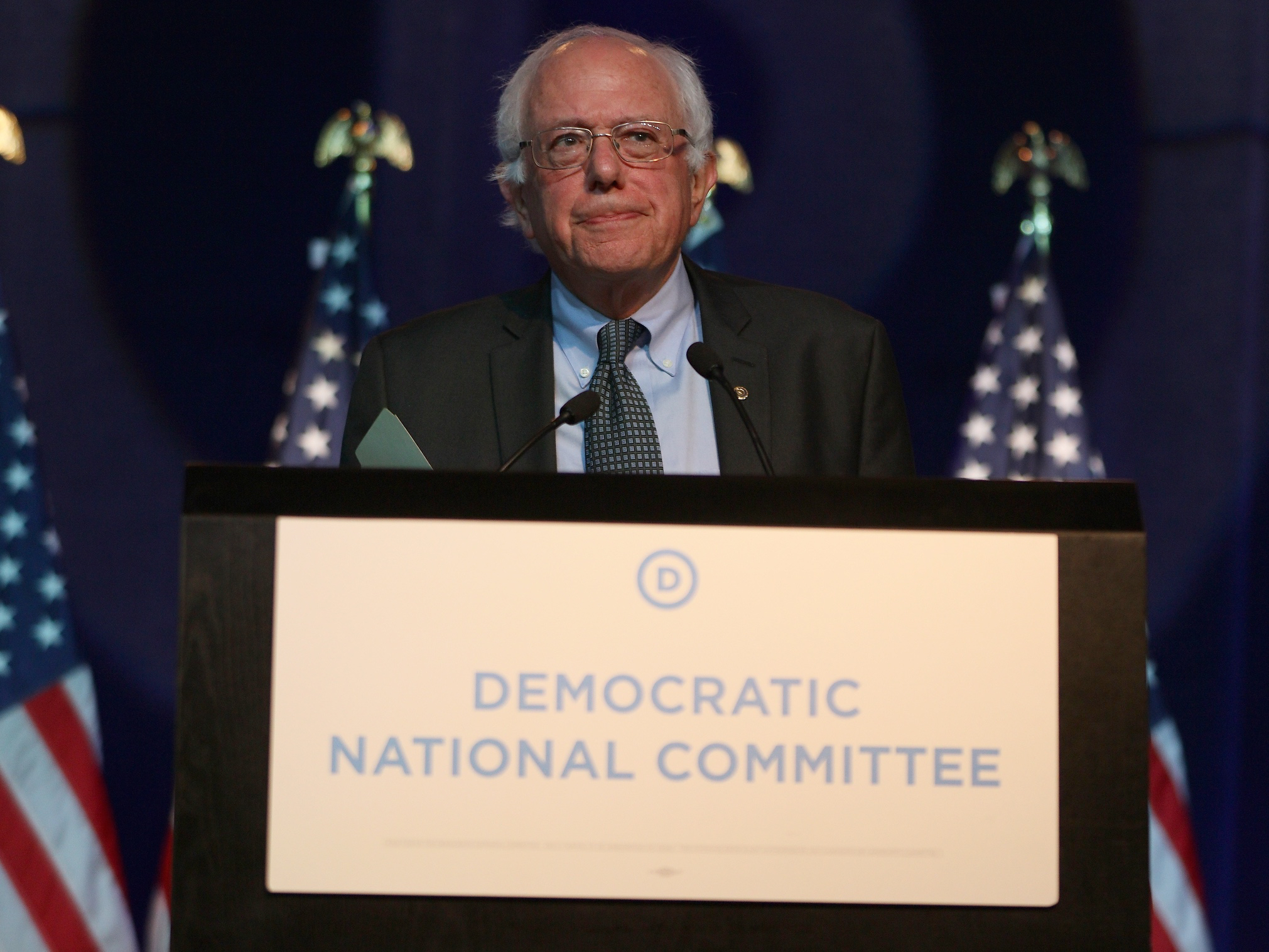 Democratic Presidential Candidates Speak At DNC Summer Meeting In Minneapolis