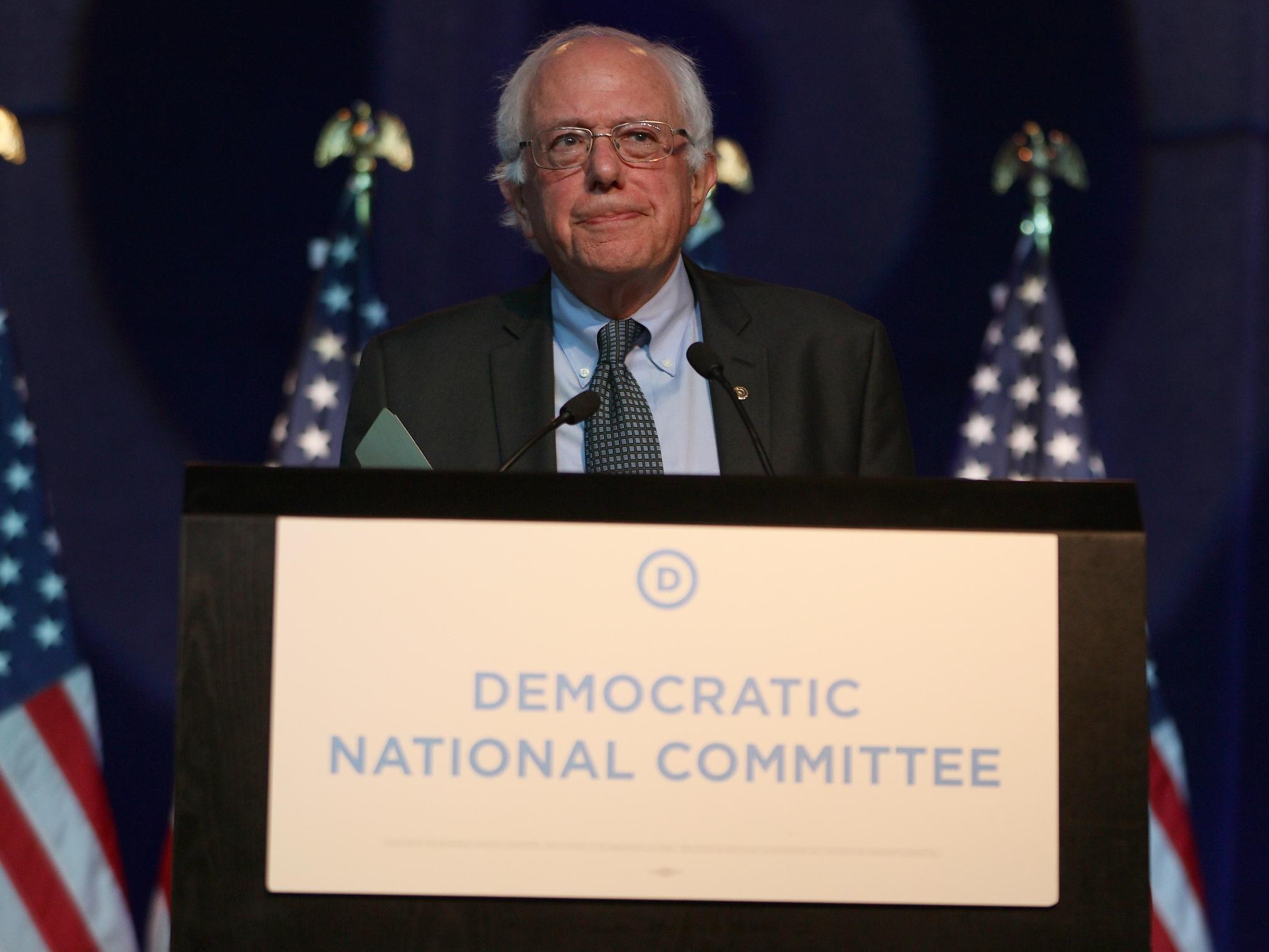 Democratic Presidential Candidates Speak At DNC Summer Meeting In Minneapolis