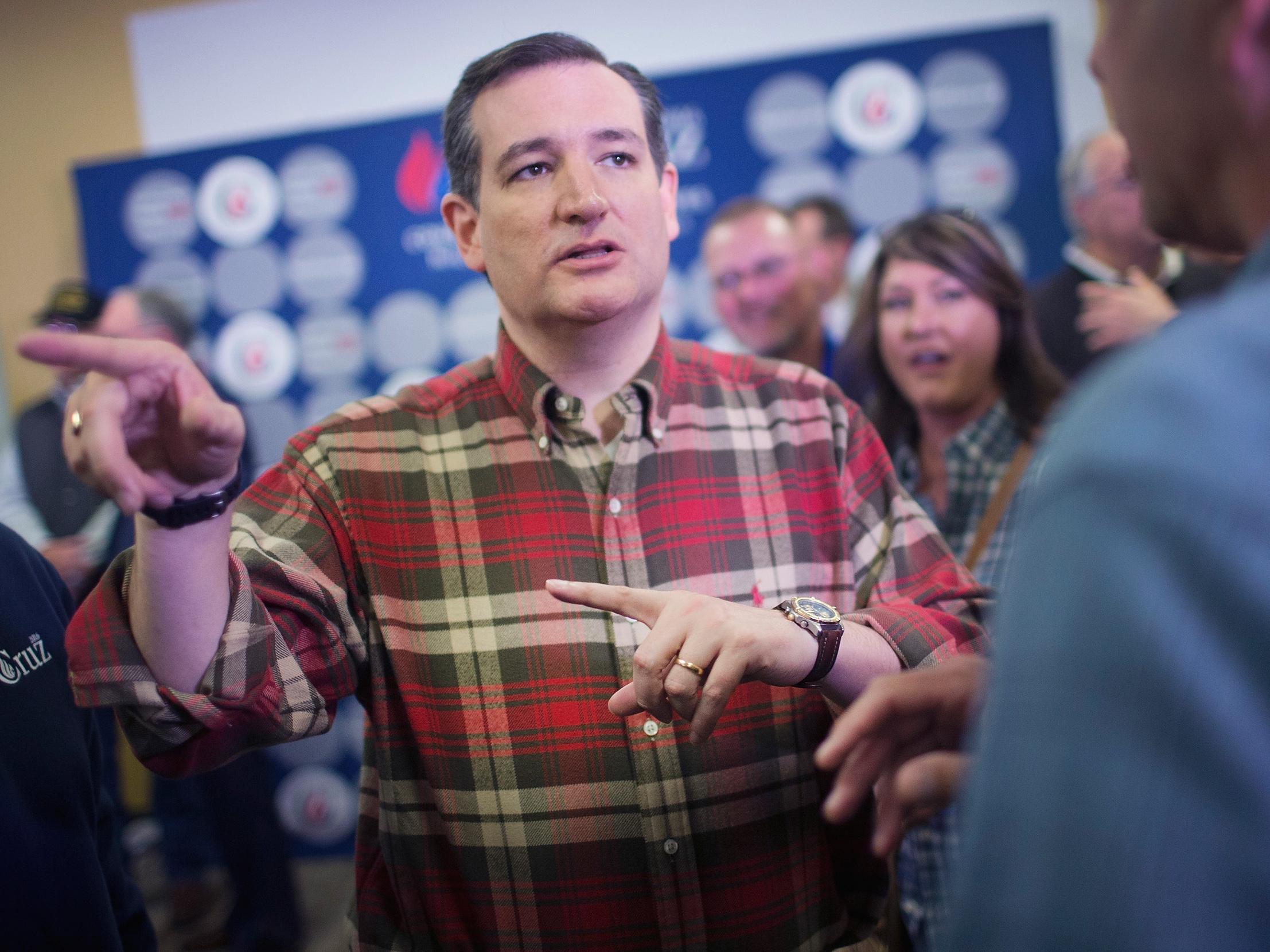 Ted Cruz Holds Second Amendment Campaign Event At Iowa Gun Range