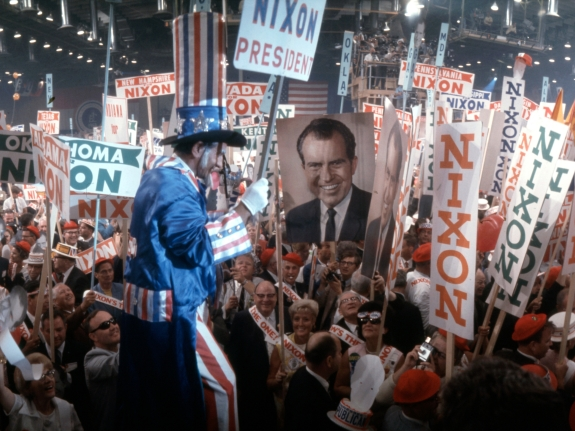 Nixon Supporters At RNC