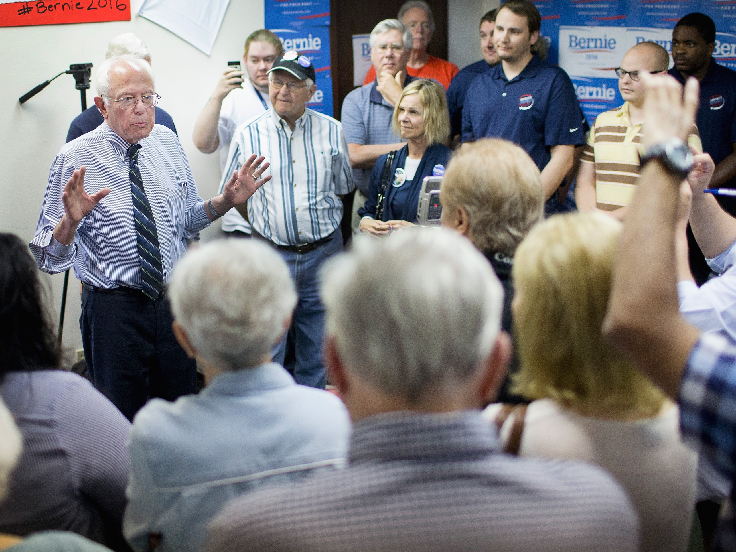 Democratic Candidate For President Bernie Sanders Campaigns In Iowa