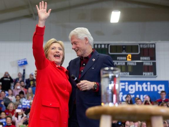 Hillary Clinton, Chelsea Clinton, Bill Clinton