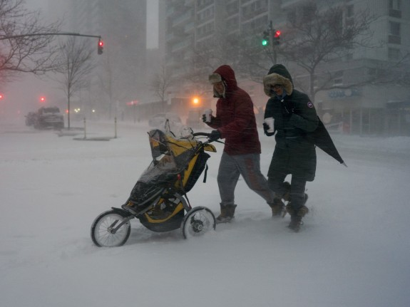 APTOPIX Big Snowstorm New York