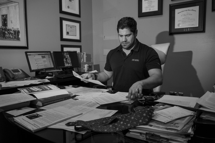 Nick Sarcone at his office.