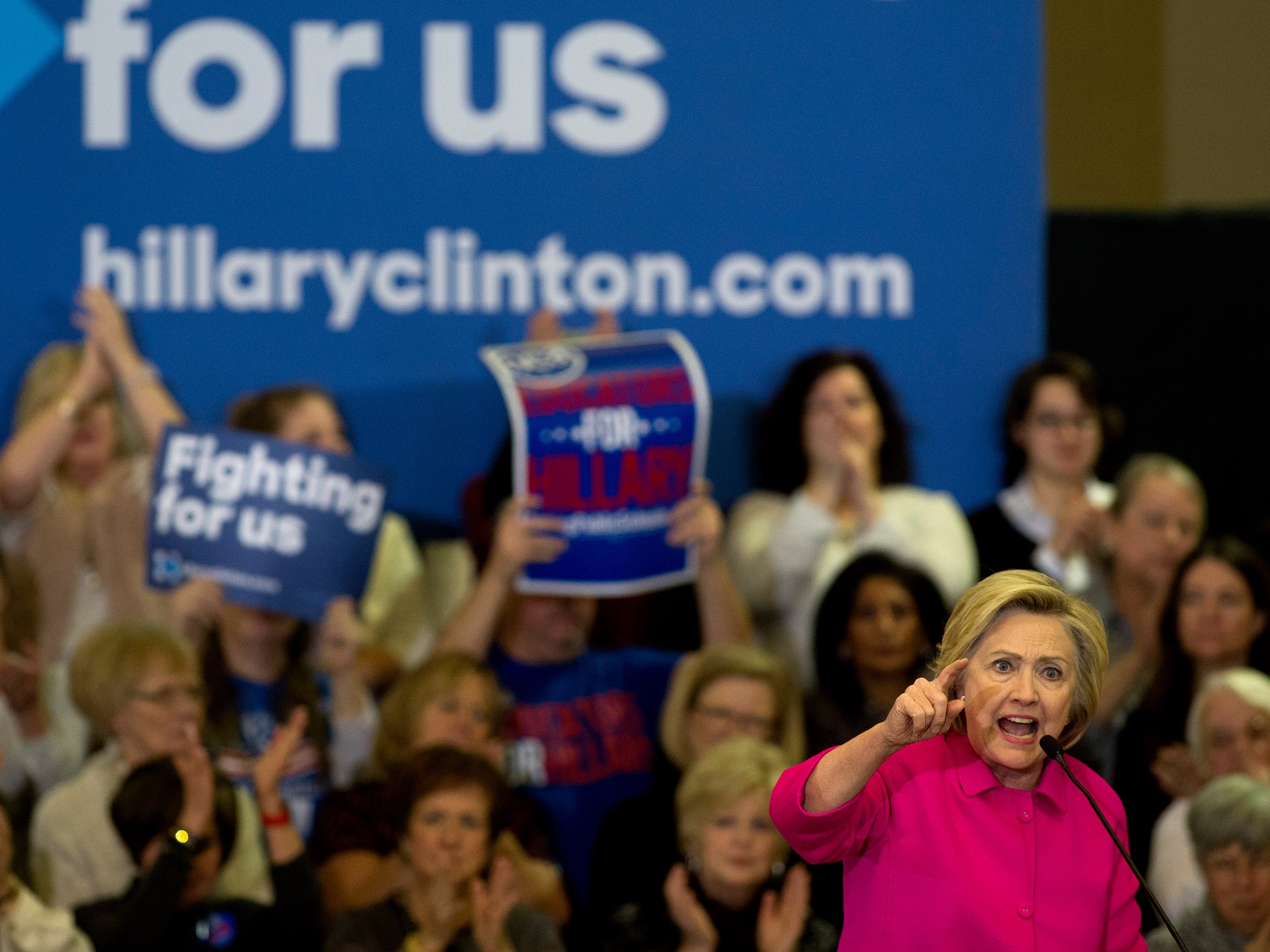 Hillary Clinton Attends Des Moines Campaign Organizing Event