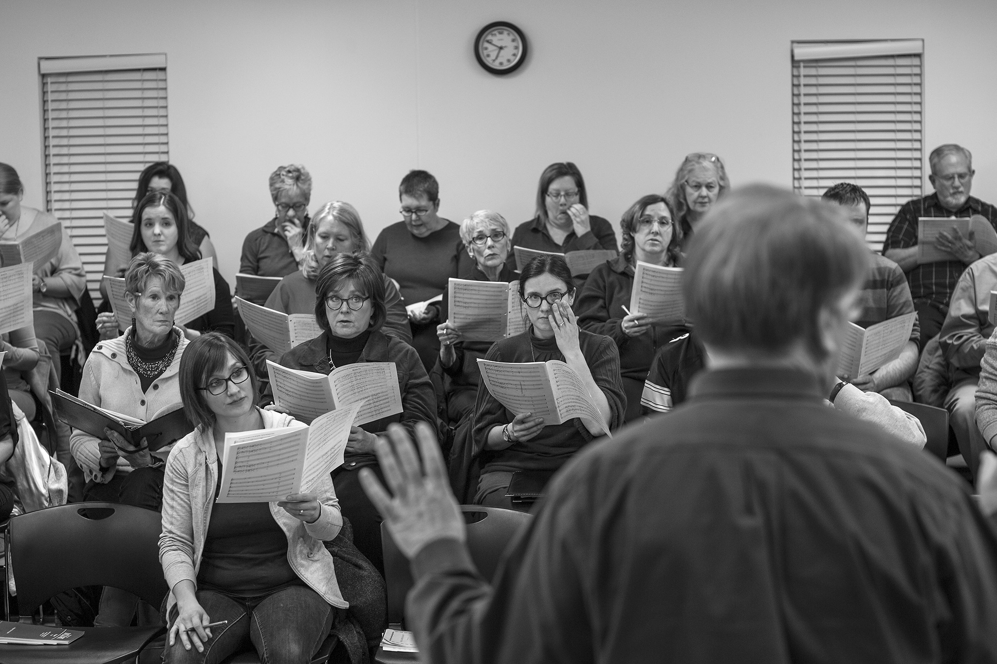 Selzer spends Sunday nights practicing with the Des Moines Choral Society; she has been a member for 20 years.