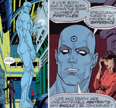 "Dr. Manhattan, from ""Watchmen"""