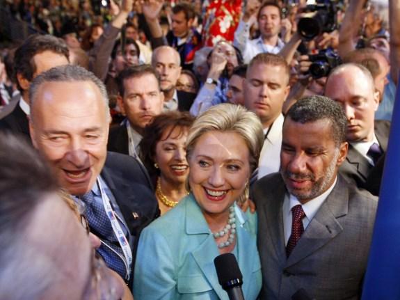 Chuck Schumer, Hillary Rodham Clinton, David Paterson