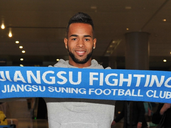 Alex Teixeira Arrives In Nanjing