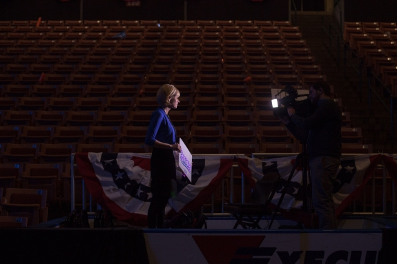 Bernie Sanders and Hillary Clinton spoke at the New Hampshire Democratic Party's 2016 McIntyre Shaheen 100 Club Celebration at the Verizon Wireless Arena in Manchester on Friday night.