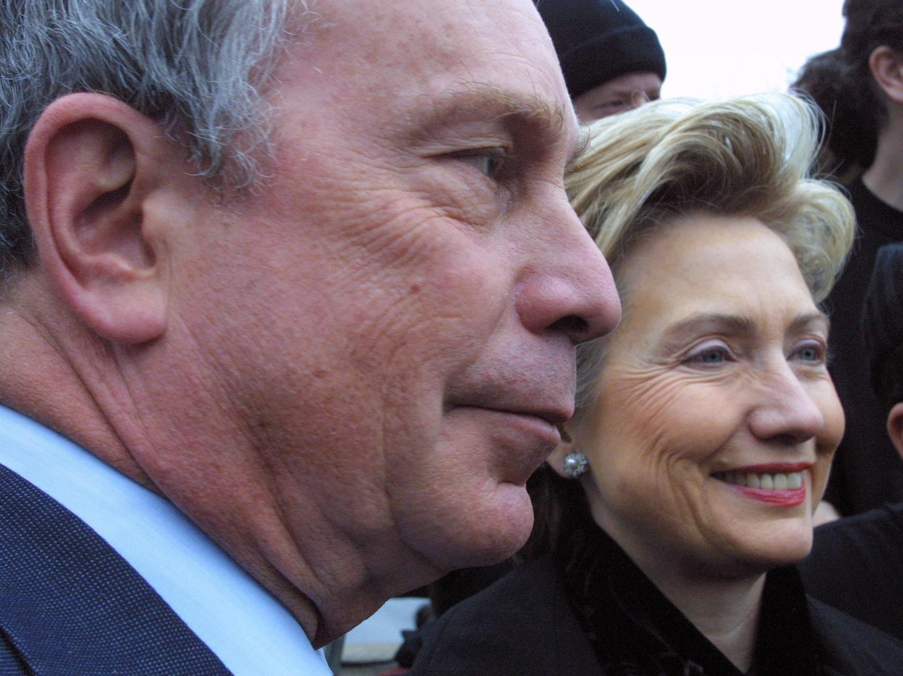 Michael Bloomberg, Hillary Rodham Clinton