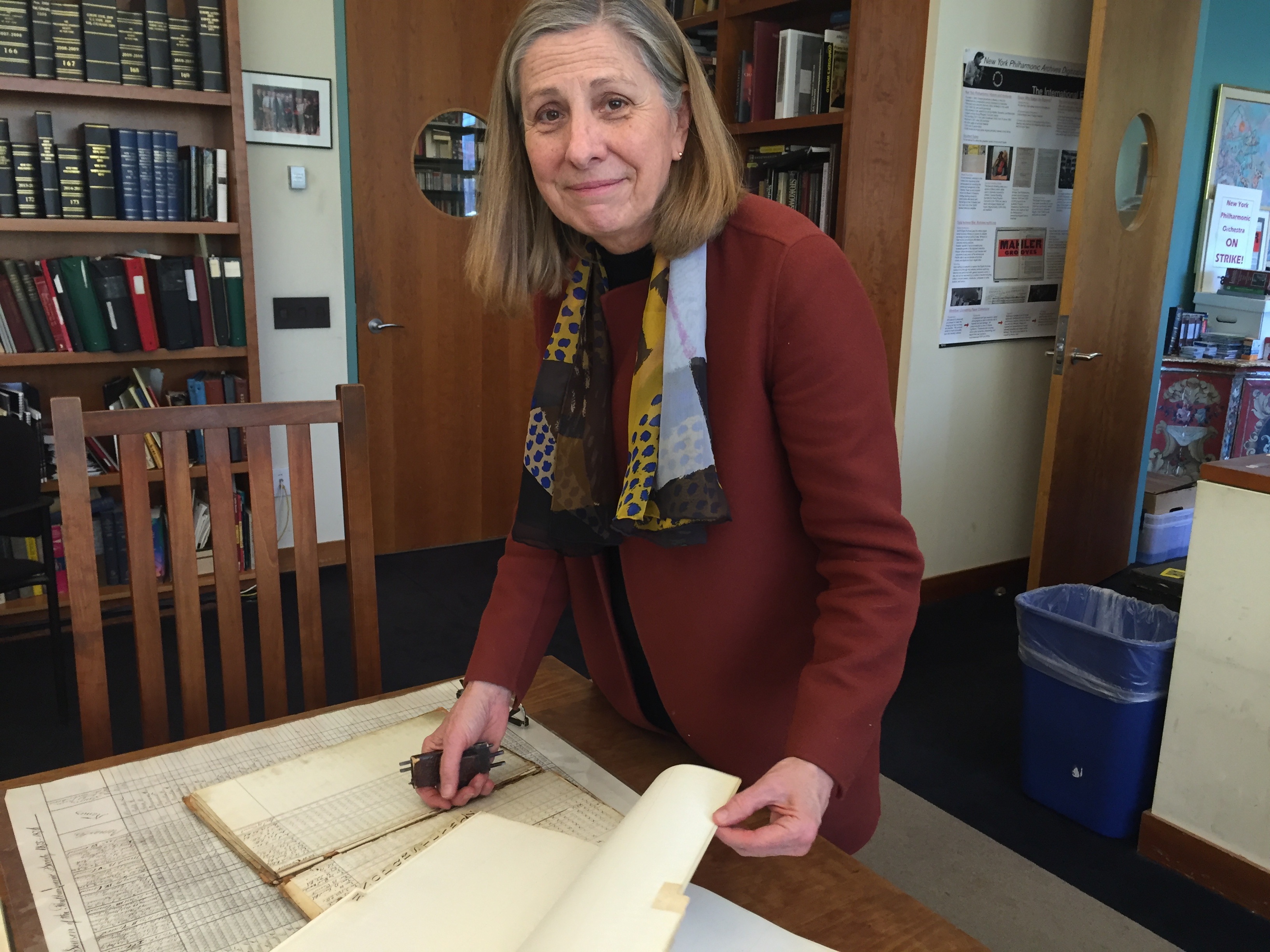 Barbara Haws, archivist/historian at the New York Philharmonic.